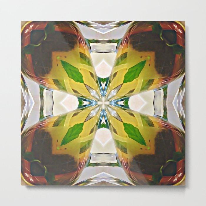 Mirrored Tea Leaves Metal Print