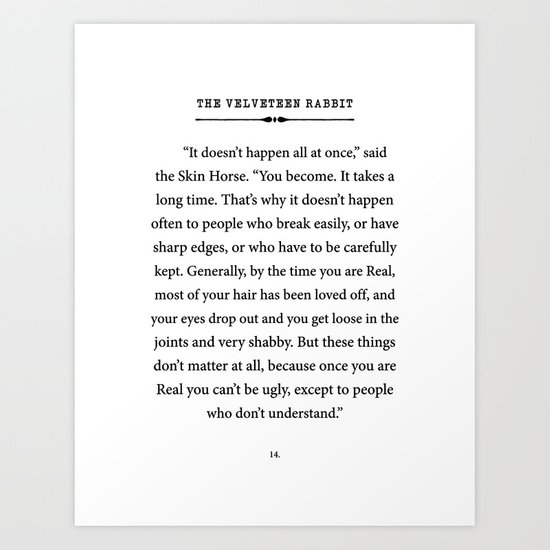 The Velveteen Rabbit ~ You become Real by enchantedlibrary