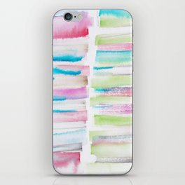 14   | 181101 Watercolour Palette Abstract Art | Lines | Stripes | iPhone Skin
