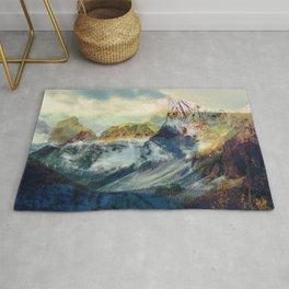 Mountain landscape digital art Rug