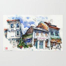 Shophouses  at Dickson Road, Little India Singapore. Rug