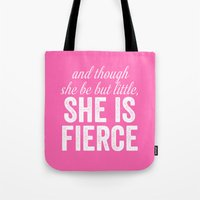 though she be but little Tote Bags featuring And Though She Be Little by KOLESON
