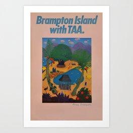 cartaz Brampton Island Art Print