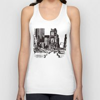 new york Tank Tops featuring New York New York by Bianca Green