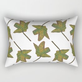 Colors of a Dancing Leaf Pattern Rectangular Pillow