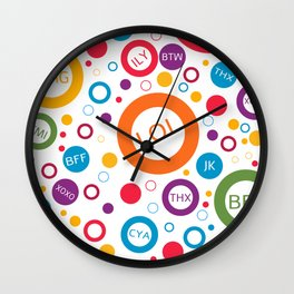 TXT ME Wall Clock