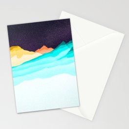 Three Sisters Mountains Stationery Cards