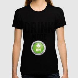 Drink Mode St. Patrick's Day Shamrocks T-shirt