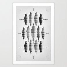 native bling (monochrome series) Art Print