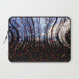 Coloured Snow Flakes Laptop Sleeve