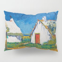 Three white cottages in Saintes-Maries by Vincent van Gogh Pillow Sham