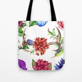 Floral Details - White Tote Bag