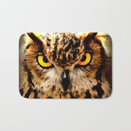 owl look digital painting reacstd Bath Mat