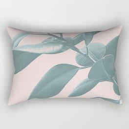 Ficus Elastica #1 #blush #decor #art #society6 Rectangular Pillow