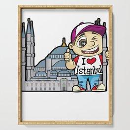I LOVE ISTANBUL Turkey Turkish Mosque Tourist Serving Tray