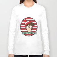 waldo Long Sleeve T-shirts featuring Found Waldo! by EdwardJ