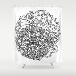 Equanimity / Circle Shower Curtain