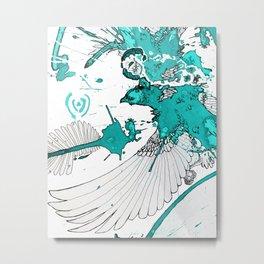 turquoise eagle Metal Print