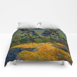 Tom Thomson Byng Inlet Georgian Bay winter 1914-1915 Canadian Landscape Artist Comforters