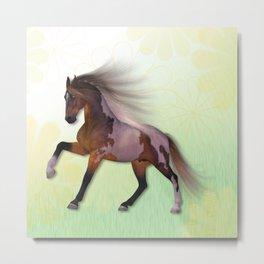 A horse, a friend Metal Print