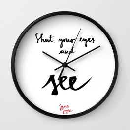 See-white Wall Clock