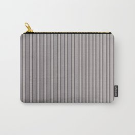 Grey Metal Bars Vertical Lined Stripes Carry-All Pouch