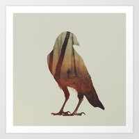 crow Art Prints featuring Crow by Andreas Lie