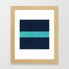 classic - navy and aqua Framed Art Print