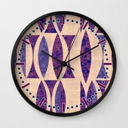 Seventies violet Pattern Wall Clock