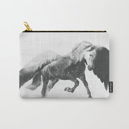 Pegasus (Black & White) Carry-All Pouch