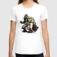 street fighter T-shirts featuring Bear Wrestler - Street Fighter by Peter Forsman