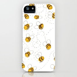 Busy buzzy bees iPhone Case