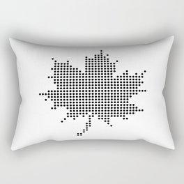 Maple Leaf BW Rectangular Pillow