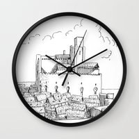 castle Wall Clocks featuring Castle by Mr.Willow