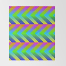 Colorful Gradients Throw Blanket