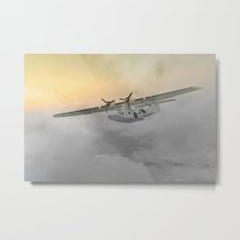 """Flying boat"" Metal Print"