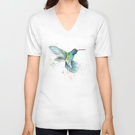 Hummingbird Flurry Unisex V-Neck