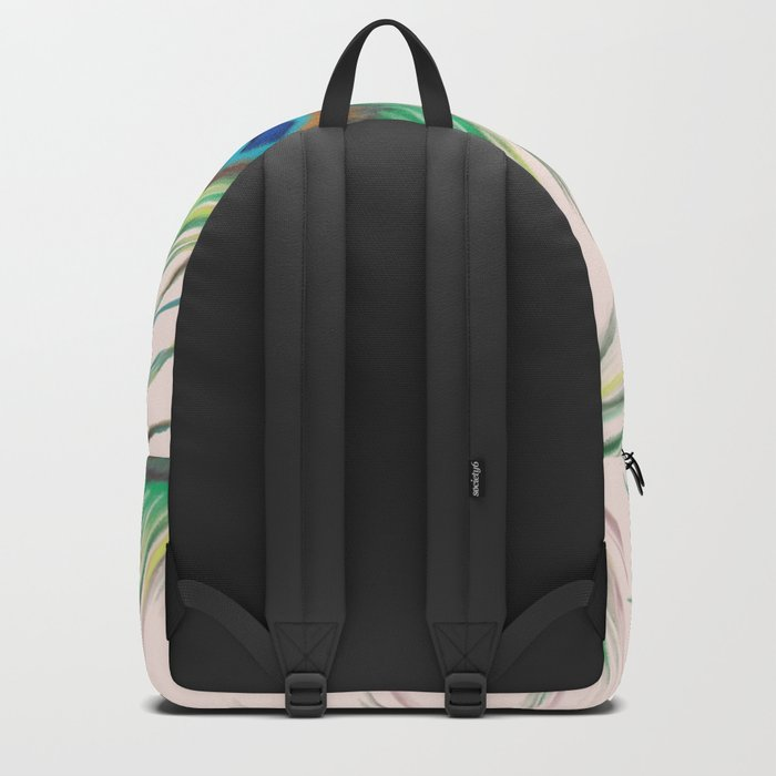 Unique Peacock Feathers Pattern Backpack