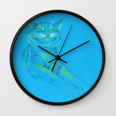 Where's the Canary? (smiley cat) Wall Clock