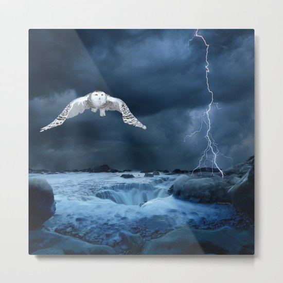 Stronger than the storm Metal Print
