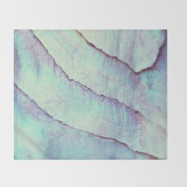 IRIDISCENT SEASHELL MINT by Monika Strigel Throw Blanket
