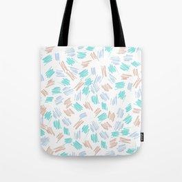 Modern pastel brown teal watercolor brushstrokes pattern Tote Bag