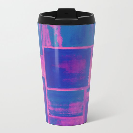 Watercolor abstract 27 Metal Travel Mug
