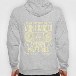 Knitting T-Shirt Not A Yarn Hoarder Gift For Knitter Tee Hoody