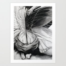 Metamorphosis // charcoal  Art Print