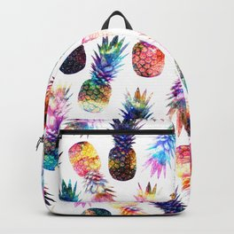 watercolor and nebula pineapples illustration pattern Backpack