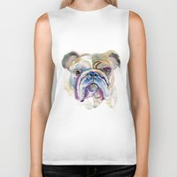 bulldog Biker Tanks featuring Bulldog by coconuttowers