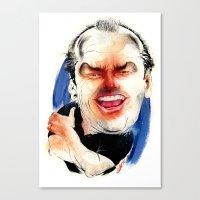 jack nicholson Canvas Prints featuring Jack Nicholson by Studio Drawgood