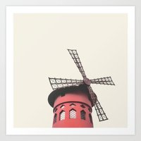 moulin rouge Art Prints featuring Moulin by LoR.