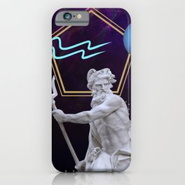 Ancient Gods and Planets: Neptune iPhone Case